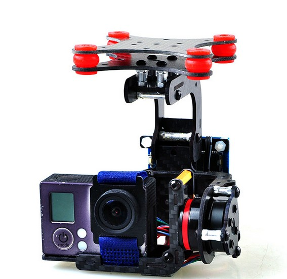 F05683 Carbon Fiber Brushless Gimbal Controller Motor Full Plug & Play For Camera Gopro 3 3Plus FPV Phantom RC Quadcopter FS 3k carbon fiber brushless gimbal with controller motors full plug