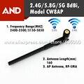 Frete grátis 1 pcs 2.4 ghz 5 ghz 5.8 ghz 8dbi alto ganho AP placa de rede Sem Fio wi-fi antena 2.4G/5.8G/5G