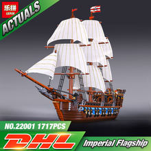 NEW LEPIN 22001 Pirate Ship warships Model Building Kits Block Briks Toys Gift 1717pcs Compatible 10210(China)