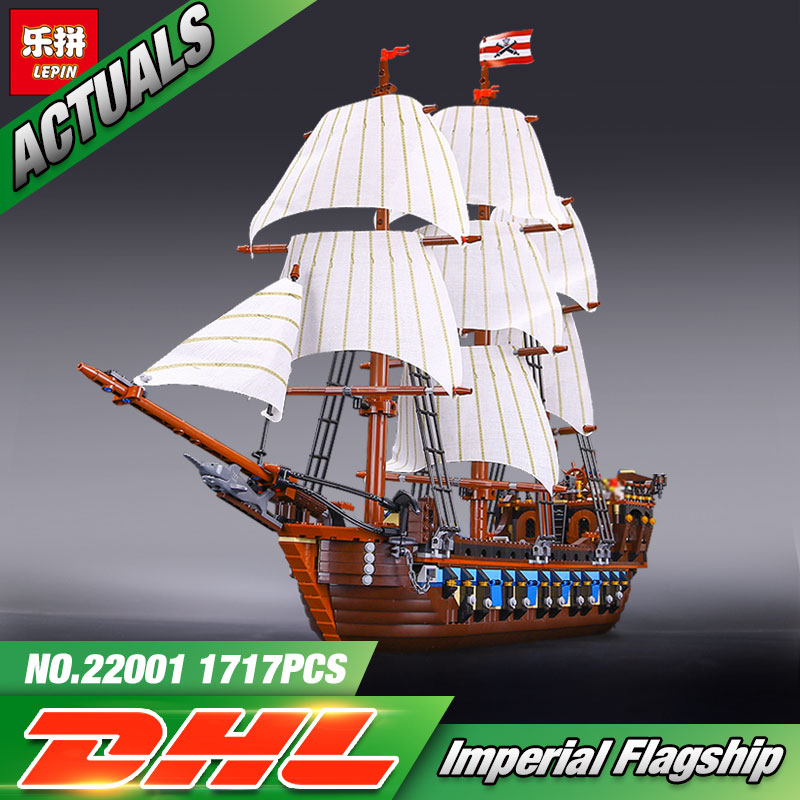 NEW LEPIN 22001 Pirate Ship warships Model Building Kits Block Briks Toys Gift 1717pcs Compatible 10210 free shipping lepin 2791pcs 16002 pirate ship metal beard s sea cow model building kits blocks bricks toys compatible with 70810
