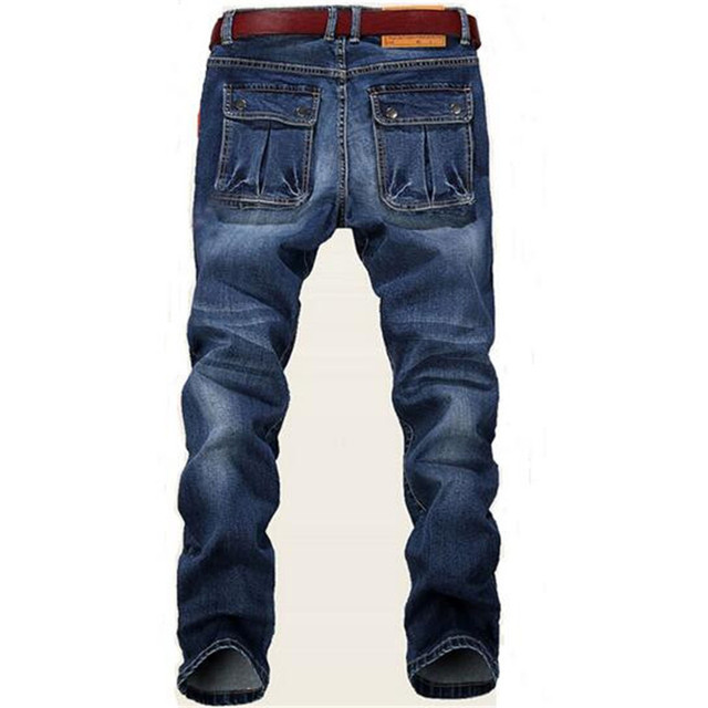 Plus size 28 – 48 men's jeans good quality straight stretch jeans designer men's jeans pants,Casual Slim Straight Trousers