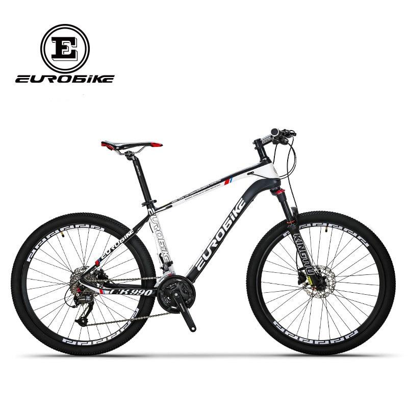 EUROBIKE 26 polegada rodas de bicicleta de fibra de carbono 27 velocidade bicicleta completa montanha