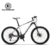 Eurobike bicicleta de fibra de carbono  27 velocidades  26 polegadas  roda completa  mountain bike