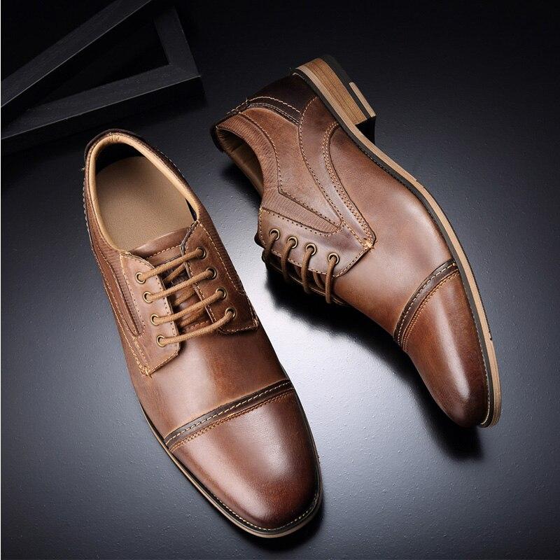 Oxfords Tamanho Genuíno Camada Sapatas Formal Dos Couro Grande Desai 5 Homens Brown 7 De Marca Vestido Sapatos Do 12 Eur Negócio Primeira ZaxqxAPwB