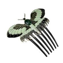 Peines Vintage estilo Titanic con diseño de mariposa, horquillas de animales para el pelo, accesorios para mujer, regalo de joyería para novia