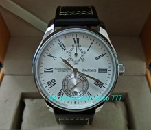 PARNIS 43mm white dial Automatic Self-Wind movement power reserve men's watch Mechanical watches wholesale 155a