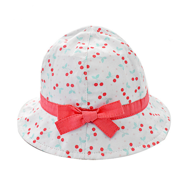 2018 Cute Sweet Girls Sun Hat Summer Baby Girls Bucket Hat Sun Cap Bow Knot  Toddler Girls Beach Hat fb9c1615c10