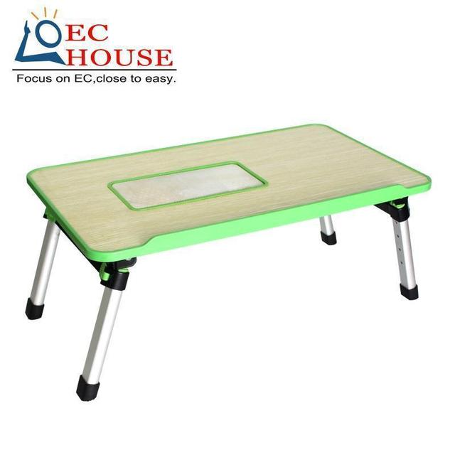 folding learning desk Notebook bed dormitory small lazy table simple cooling household FREE SHIPPING