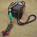 Étnico Bohemio Colgante Collar de la Mujer 2017 Cuerda de La Borla de Cuentas de Piedra N1365 Femme Collier Joyería de Moda Al Por Mayor El Envío Libre