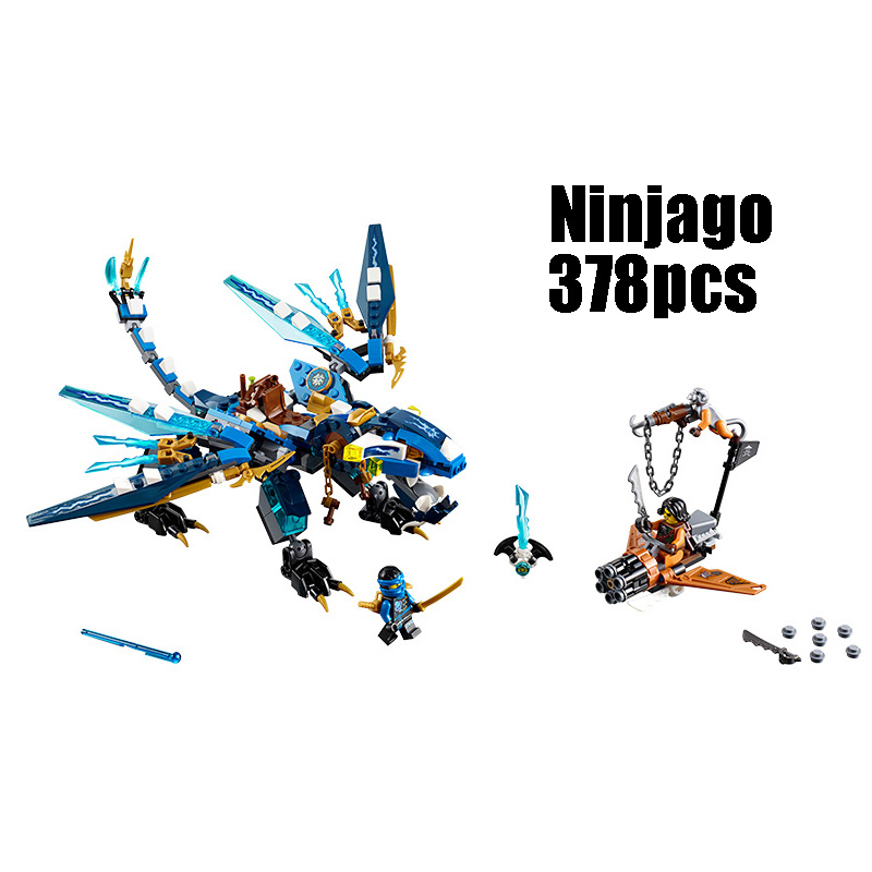 WAZ Compatible with Lego Ninjagoes 70602 06027 blocks Ninjago Figure Jay's Elemental Dragon toys for children building blocks compatible with lego ninjagoes 70596 06039 blocks ninjago figure samurai x cave chaos toys for children building blocks