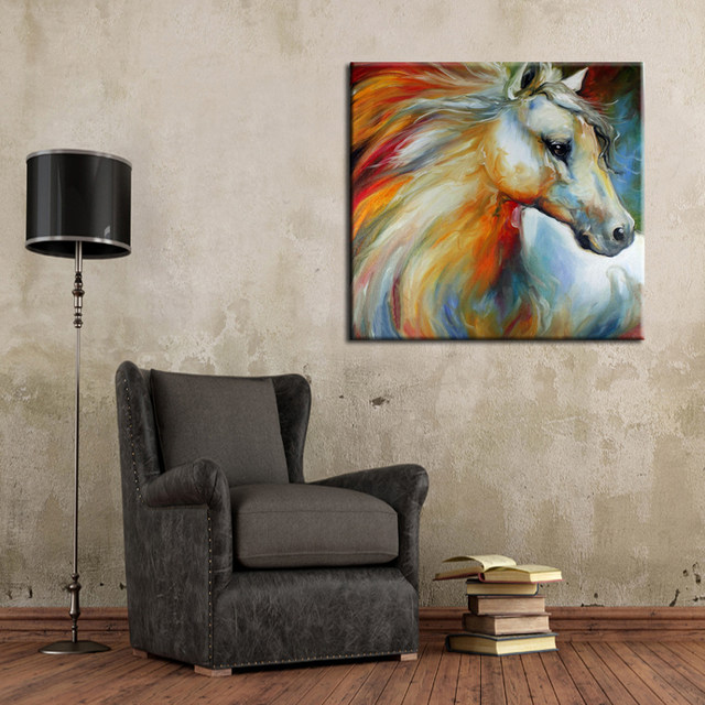 Experienced Professional Painter Pure Handmade High Quality Abstract Wall Decor Painting Horse Oil On Canvas
