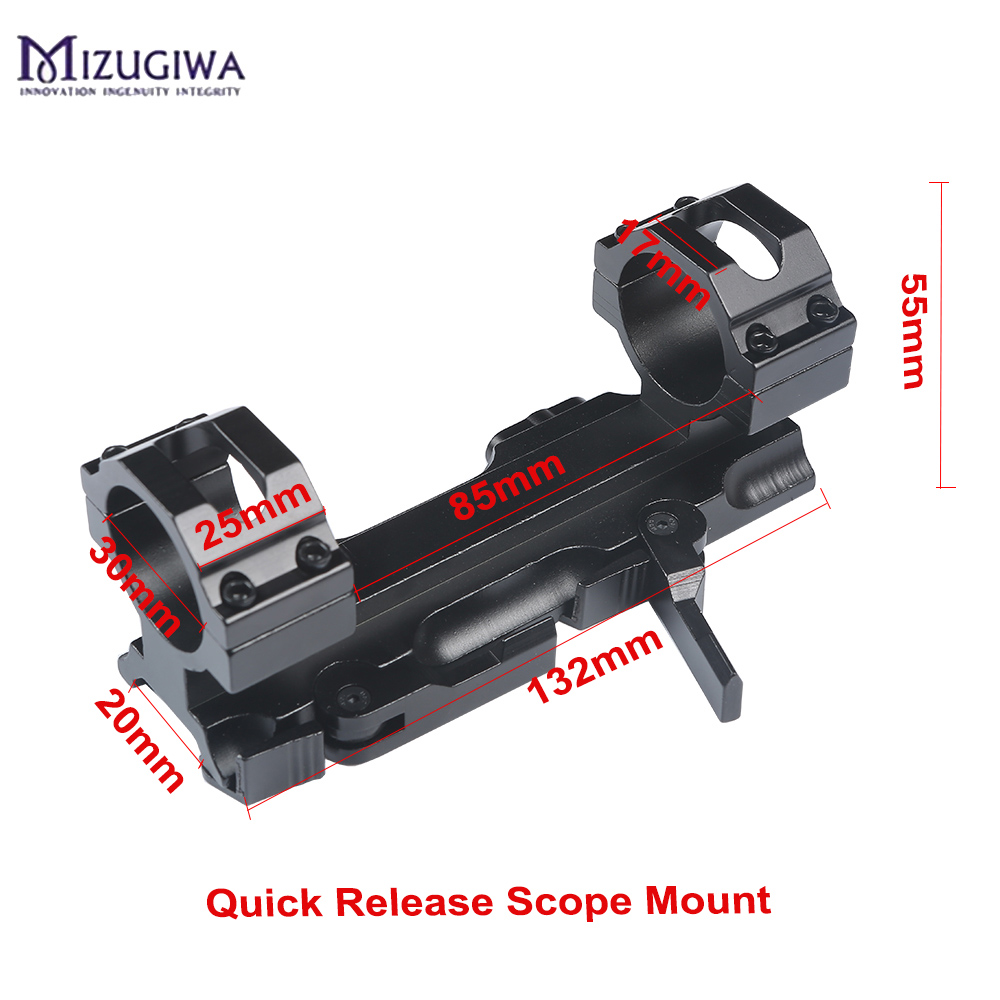 MIZUGIWA Hunting Rifle Scope Mount 30mm Quick Release Cantilever Picatinny Weaver 20mm Rail AR15 AK47 M4 Hunting Accessories