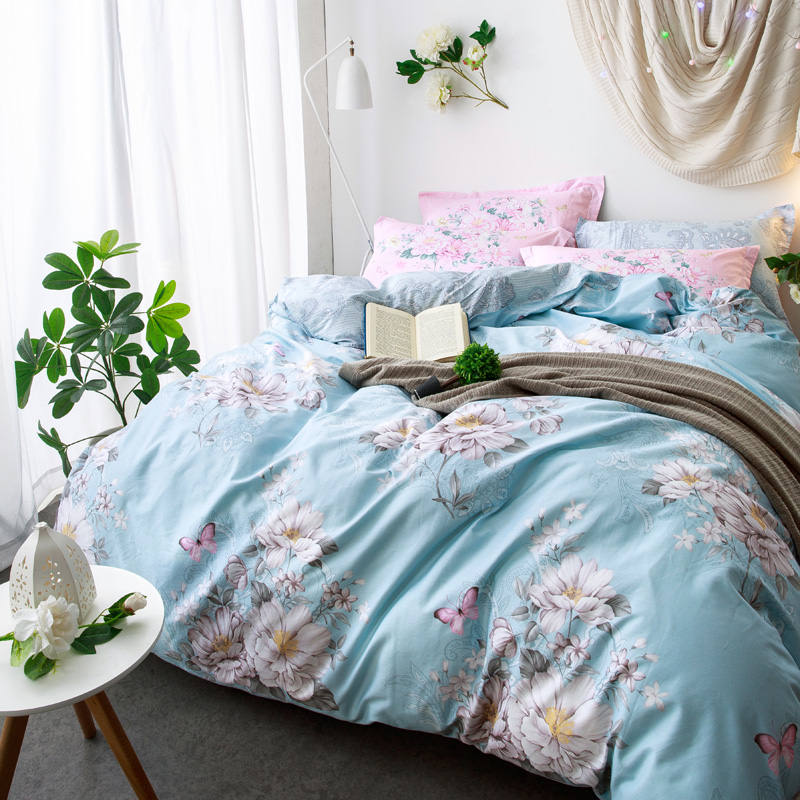 Chinese Flowers Bedding sets Blue Sheet for Girls Adults Bed Linens Queen Full size Coverlets 4/5 PCs 3D Duvet Quilt Cover briefChinese Flowers Bedding sets Blue Sheet for Girls Adults Bed Linens Queen Full size Coverlets 4/5 PCs 3D Duvet Quilt Cover brief