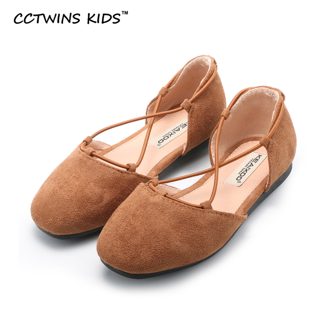 CCTWINS KIDS 2017 spring baby girl black for children fashion party pu leather shoe toddler brand party flat slip on pink
