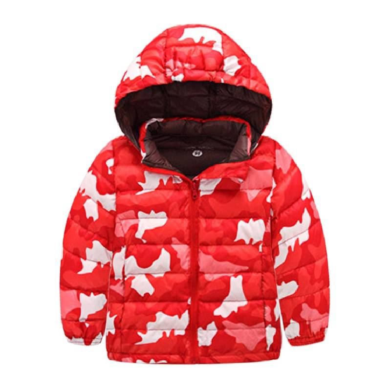 Kızlar için çocuk Parkas kış takım 2016 çocuk cadılar bayramı kamuflaj aşağı palto ve ceketler hood boys coat noel giyim