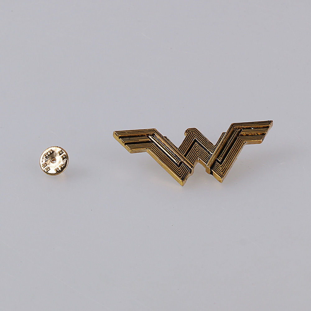 New Justice League Badge Wonder Woman Logo Metal Pin Cosplay Props  3