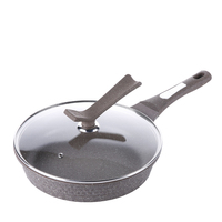 Korean Stone Tower Pan Casting Non Stick Pan Glass Upright Cover General Use For Gas And