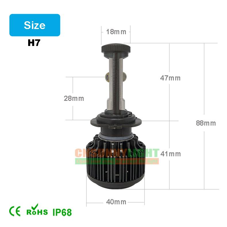 CNSUNNYLIGHT Car Headlights H7 LED Bulb Auto Front Bulb 60W  7200LM Automobiles Fog Headlamp 3000K 4300K 6000K 8000K With EMC (12)