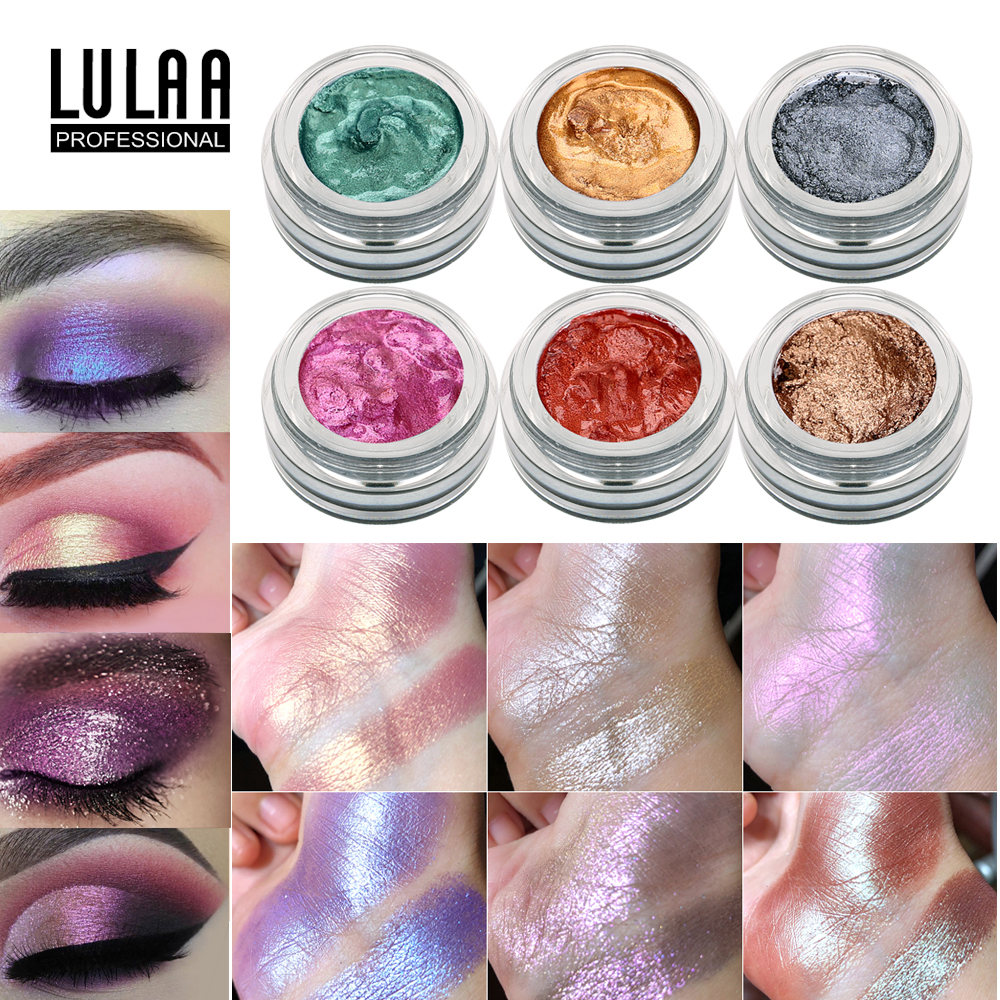 Beauty & Health New Fashion 14 Colors Shimmer Glitter Eye Shadow High Pigment Cosmetics Magic Pearl Eyeshadow Creamy Crystal Illumindor Lasting Eyes Makeup