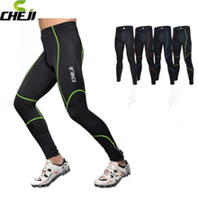 CHEJI Mens Cycling Pants Bicycle Bike Tights Riding Long Reflective Trousers Breathable S-3XL 4-Colors