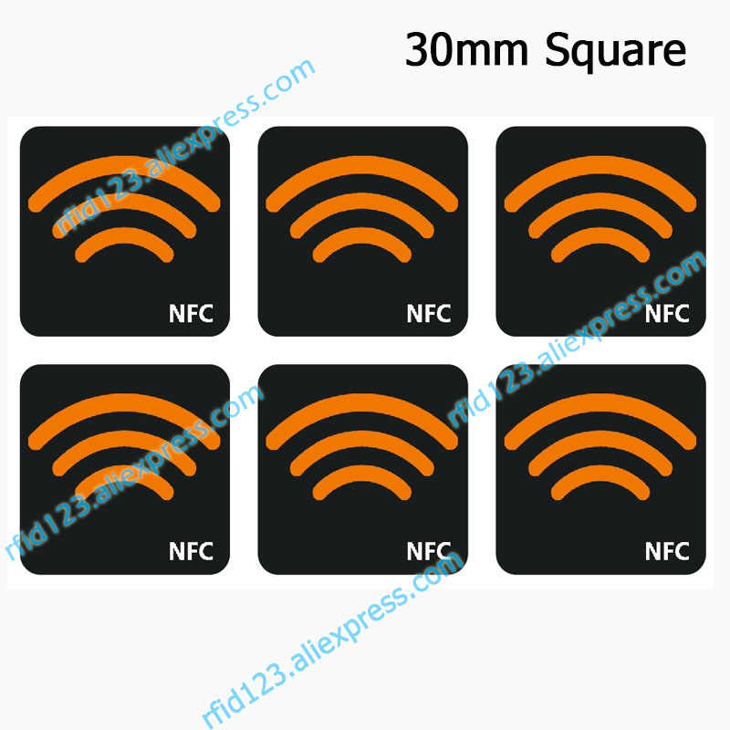 NFC Ntag213 TAG Sticker 13.56MHz NTAG 213 Universele Label RFID Sleutel met 144 bytes geheugen
