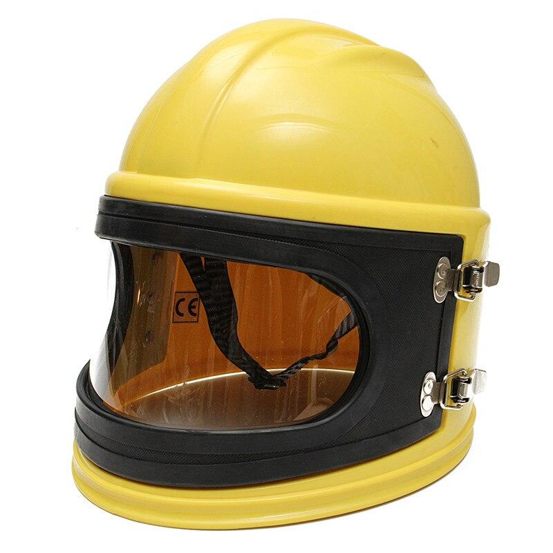 NEW  PVC ABS Material Sand Blast Hood Protector Sandblast Sandblasting Helmet + Pipe + Cloak+ 6 Lenses