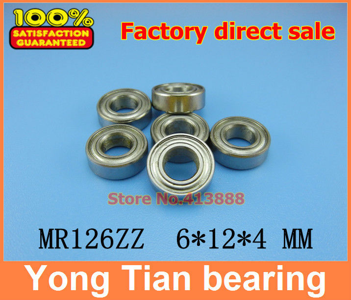 NBZH sale price 200pcs lot free shipping miniature ball bearing stainless steel 440C material SMR126ZZ 6