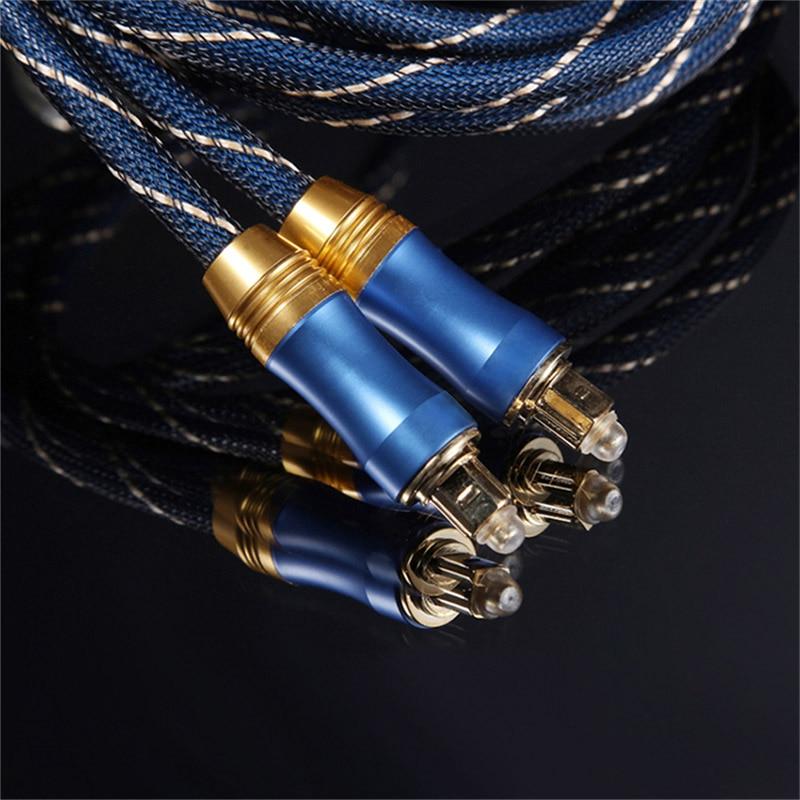 5.1 Digital Sound SPDIF Toslink Optical Audio Cable Braided Fiber Connector Adapter ND9985.1 Digital Sound SPDIF Toslink Optical Audio Cable Braided Fiber Connector Adapter ND998