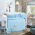 2016 Hot Sale 10Pcs Baby Bedding Set for Crib Newborn Baby Bed Linens for Girl Boy Cartoon Cot Bumpers Sheet Quilt