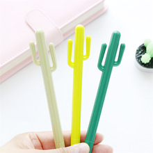 3 pcs Cute green Cactus gel pens 0.5mm ballpoint pen for writing black color signature Stationery office school supplies FB296