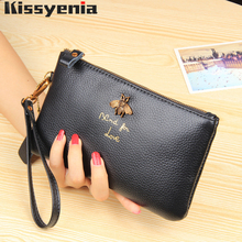 Kissyenia Luxury Brand New Geniune Leather Purse for Women Long Waist Bag Daily