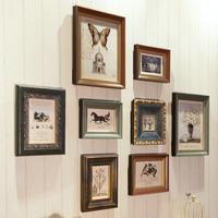 8 pcs/set Europe Style Photo Frames Photos,Vintage Picture Frames,Photo Frame Set,Wood Frame Home Decor Porta Retrato Moldura