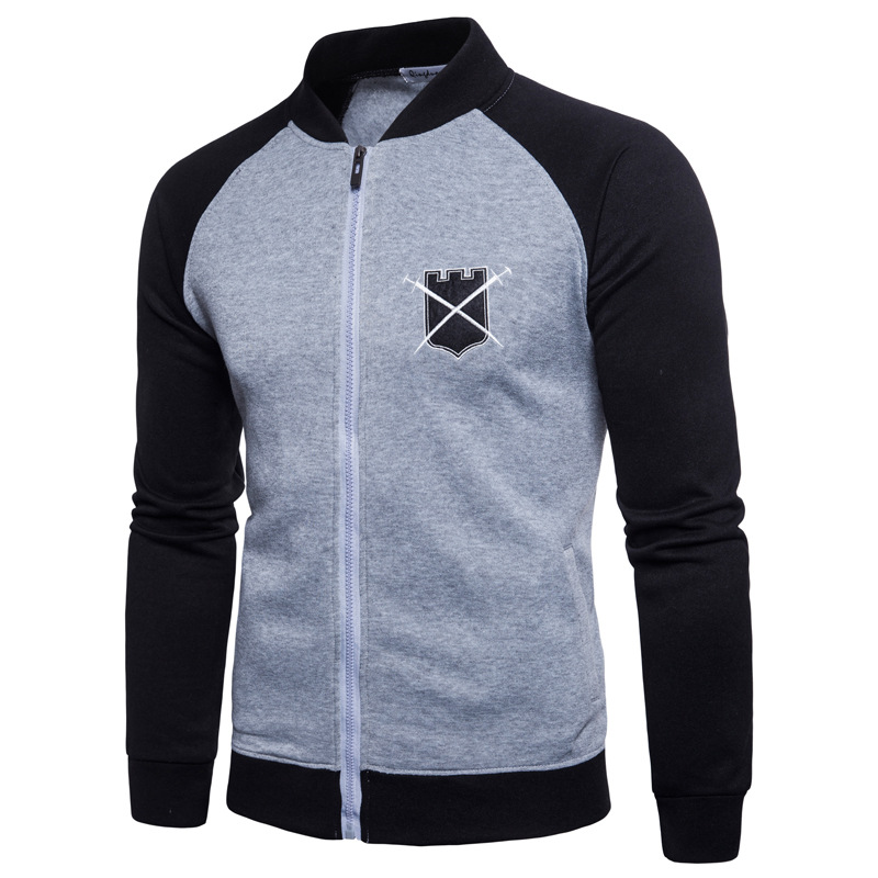 2020 Spring And Autumn New Jacket Slim Men's Jacket Cotton And Linen Men's Casual Jacket Harajuku Black Sleeve Baseball Uniform