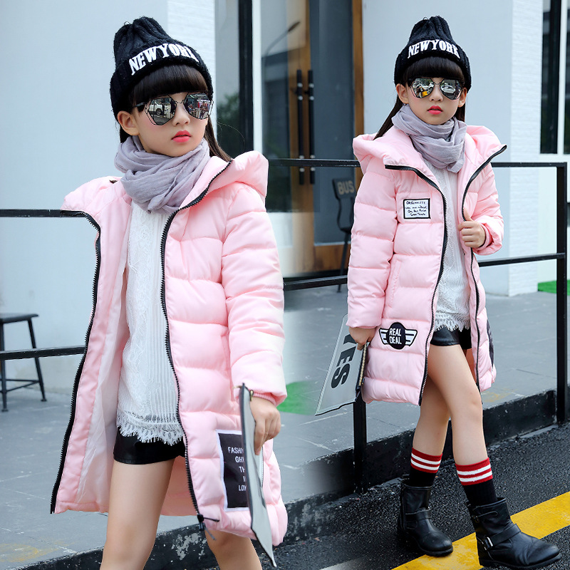 New Winter Jackets For Girls Kids Thicken Snowsuit Children Down Coat Outerwear Warm Tops Clothes Child Clothing GH463 2017 new winter jackets for boys fashion boy thicken snowsuit children down coats outerwear warm tops clothes big kids clothing