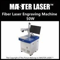 Lower Price 50W Fiber Portable 220V Input IPG Laser With DELL DESKTOP Computer Bracelet Engraving Machine
