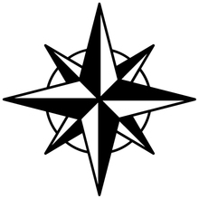 CS-564#15*15cm Eight-pointed star funny car sticker and decal silver/black vinyl auto stickers