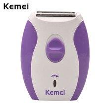 Kemei Перезаряжаемые Электрический женский эпилятор Бритва для лица и тела подмышки ноги удаления волос леди бритвы депиляция для женщин 3536