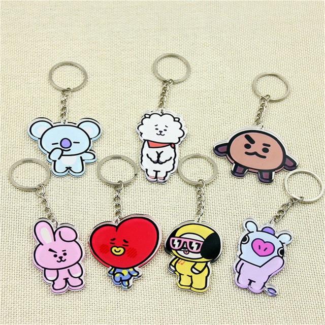 Bts Kpop Bt21 BTS Keychain Chimmy Cooky Key Chain Accessories Jimin Anime