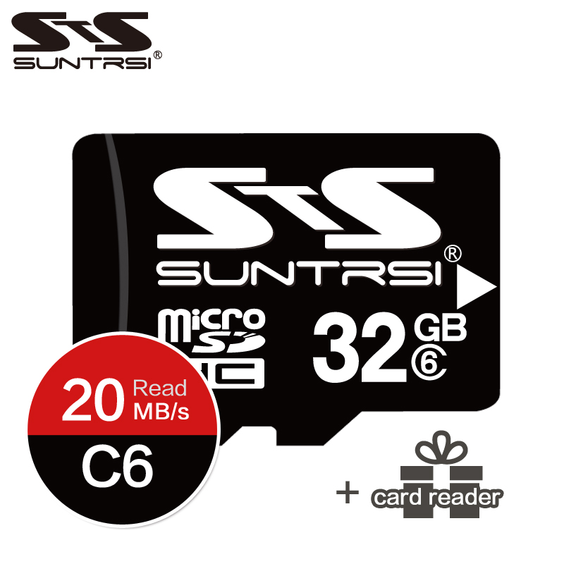 Suntrsi memory card 32gb High Speed micro tf card sd card 16gb Class 6 micro sd Mini TF Cards For Smartphone free shipping netac class 10 16gb 32gb micro card sdhc tf card flash memory card data storage high speed 80mb s micro sd card for phone