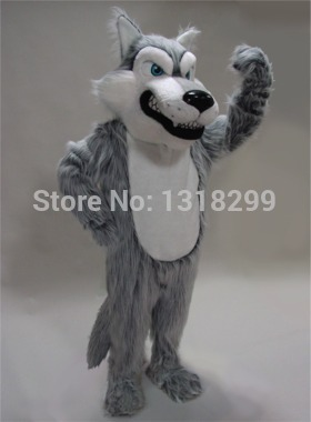 mascot Grey Wolf mascot costume plush coyote fancy dress custom fancy costume cosplay theme mascotte carnival costume kits
