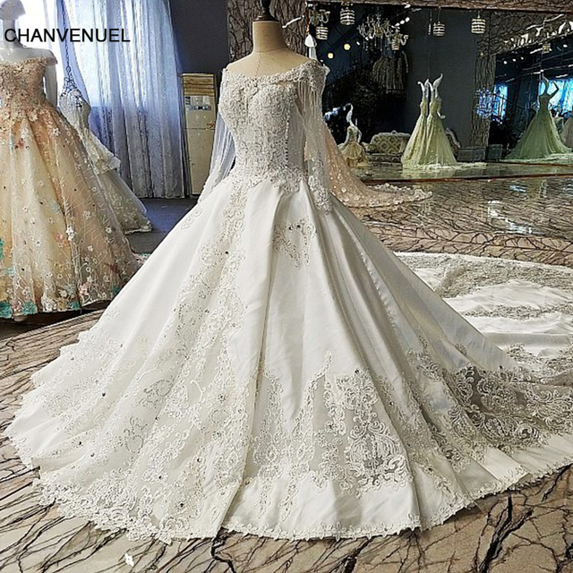f875fedbf LS00112 Luxury wedding dress for bridal beading ball gown long sleeves lace  wedding gowns vestidos de