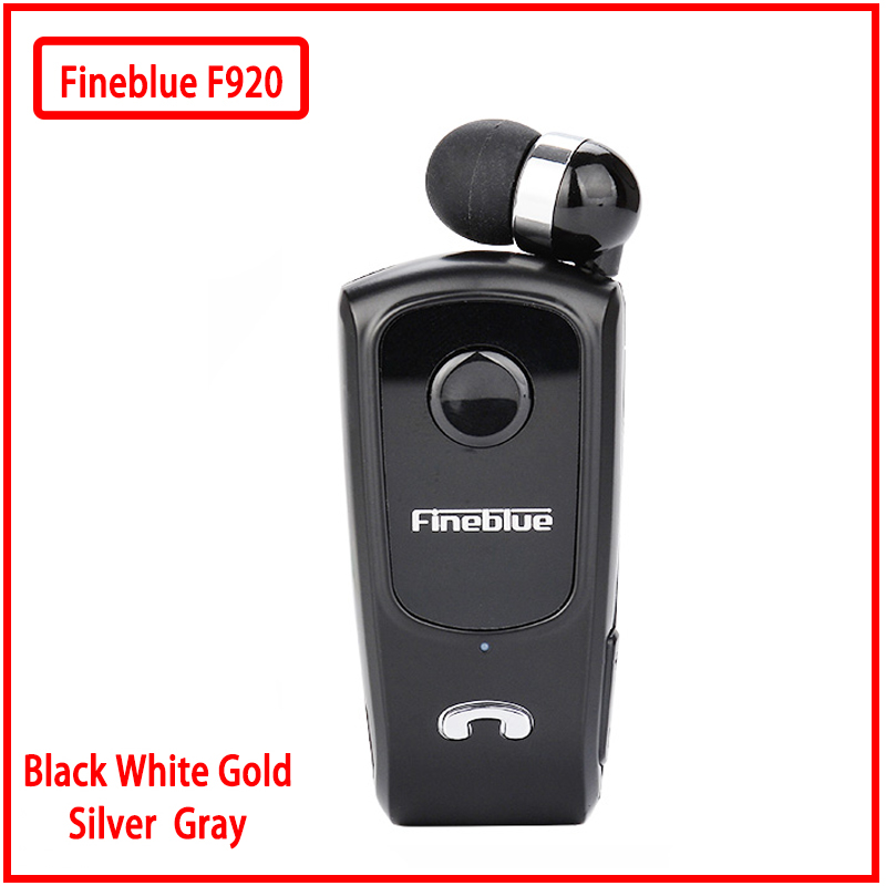 Fineblue F920 Mini Wireless Retractable Portable Bluetooth Headset Calls Remind Vibration Wear Clip Sports Running Earphone