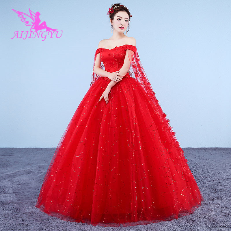 AIJINGYU 2018 girl free shipping new hot selling cheap ball gown lace up back formal bride