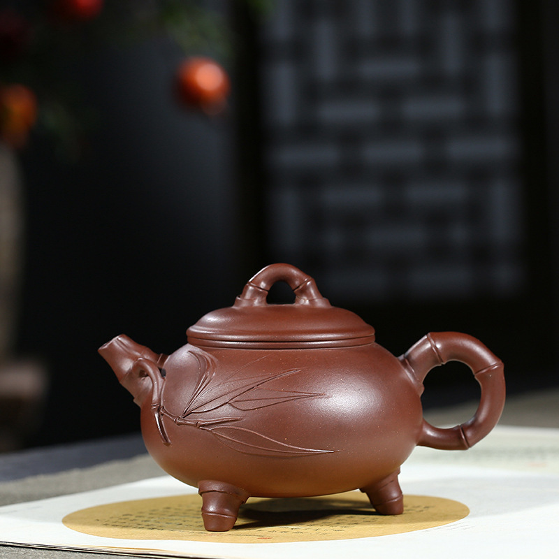 Ore Bottom Groove Clear Purple Ink For Imprinting Of Seals Three Foot Bamboo Joint Kettle Kungfu Online Teapot Tea Set GiftOre Bottom Groove Clear Purple Ink For Imprinting Of Seals Three Foot Bamboo Joint Kettle Kungfu Online Teapot Tea Set Gift