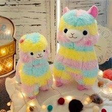 Alpaca Plush Toy Doll Rainbow Horse Lama Stuffed Animals Soft Toys for Children Birthday Christmas Gifts цены онлайн