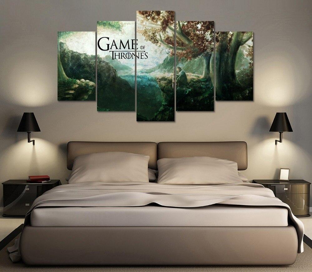 Gerahmte HD Druck 5 stücke Game of Thrones leinwand wandkunst ...