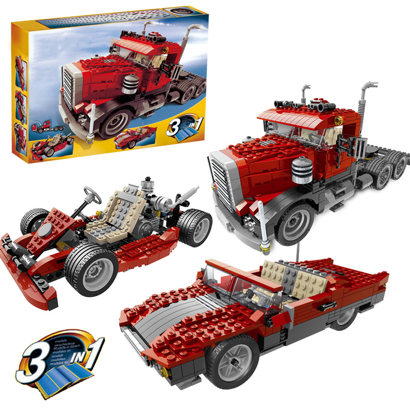 Lepin 24023 Big Rig building bricks blocks Toys for children boys Game Model Car Gift Compatible with Decool Bela 4955 lepin 22001 pirate ship imperial warships model building block briks toys gift 1717pcs compatible legoed 10210