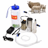 2000ML Electric Milking Machine Cow Sheep Goat Milker Impulse Type Manual Pump Electric Impuls for Cow Sheep