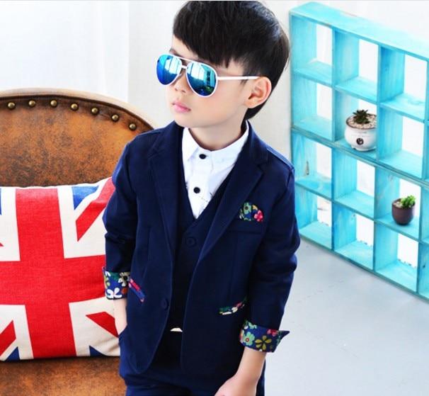 new 2017 spring autumn boys gentlemen patchwork blazer clothing set 3pcs boys full dress clothes set boys dress suit ремни lee ремень gentlemen