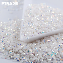 Sell at a low price SS6 2mm Jelly White AB Resin Nail Art Rhinestones 1000Pcs/Bag Flatback Glue on 3D Nails Decorations
